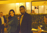 Kim Kardashian and Kanye West headed to a restaurant in Rome.
