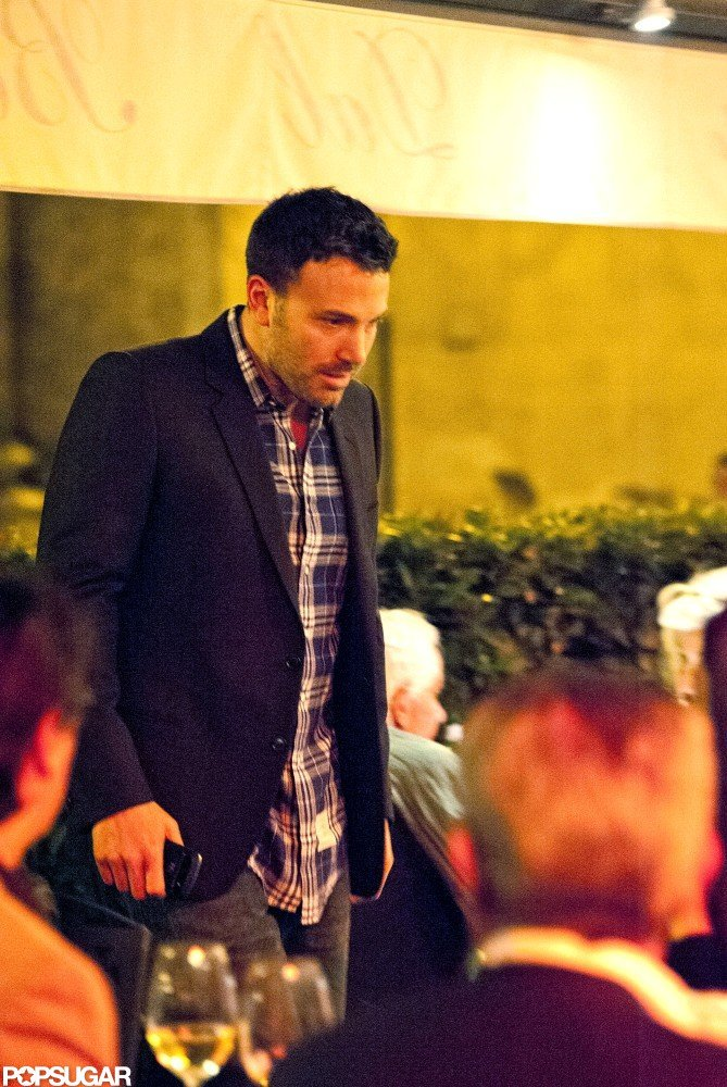 Ben Affleck Takes the Night Off to Dine at a Roman Hot Spot