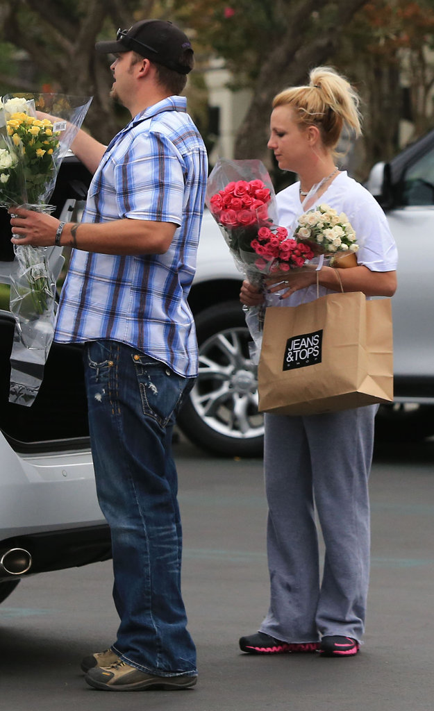 Britney Spears and a friend stopped by Gelson's market in LA.