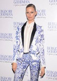 Karolina Kurkova posed in a Resort 2013 Roberto Cavalli suit at the event.