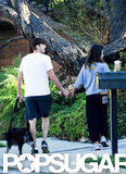 Mila Kunis and Ashton Kutcher held hands for a walk around LA.