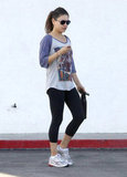 Mila Kunis stopped by a yoga class in LA.