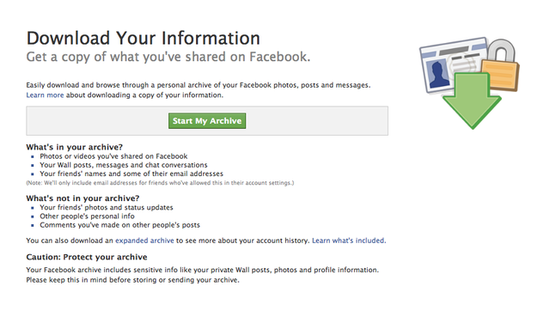 Download Every Last Bit of Your Facebook Data