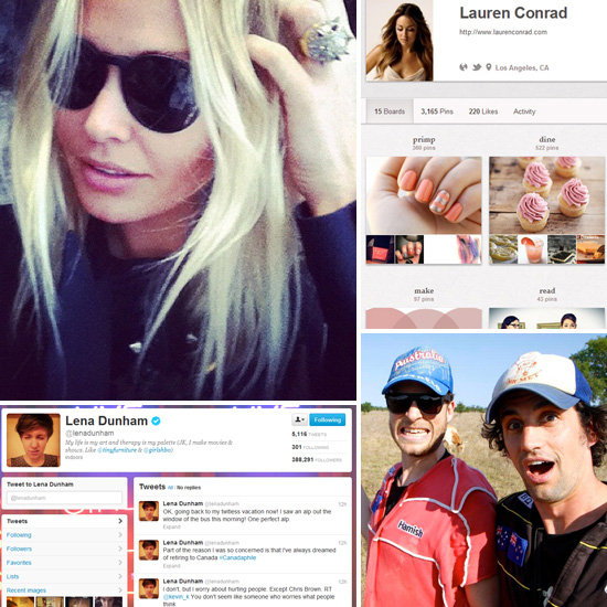 Celebrities to Follow on Social Media: Twitter, Instagram, Pinterest and Facebook