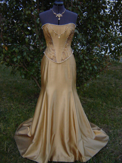 copper colored wedding dresses