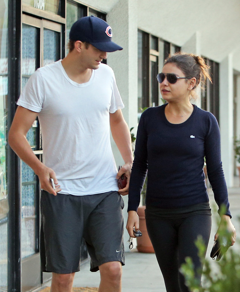 Ashton Kutcher and Mila Kunis hung out.