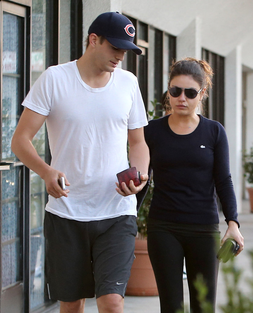 Ashton Kutcher and Mila Kunis Couple Up at the Foot Spa