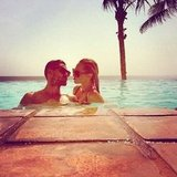Nikki Phillips and her boyfriend at Potato Head Beach Club in Bali. Source: Instagram user nikkikphillips