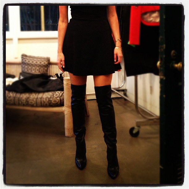Ricki-Lee showed off a new purchase — thigh-high Alexander Wang boots! Source: Instagram user therickilee