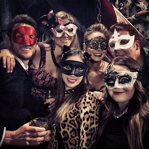 Stacy Keibler and her friends were masked for a Las Vegas bash.  Source: Instagram user stacykeibler