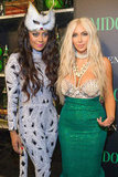 Lala Vasquez and Kim Kardashian posed at a party in NYC Saturday.