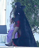 Gwen Stefani wore a cape at her party in LA in 2012.