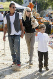 Gwen Stefani and Gavin Rossdale spent the day at the pumpkin patch with Kingston Rossdale.