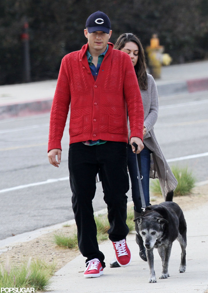 Ashton Kutcher and Mila Kunis were out in LA.
