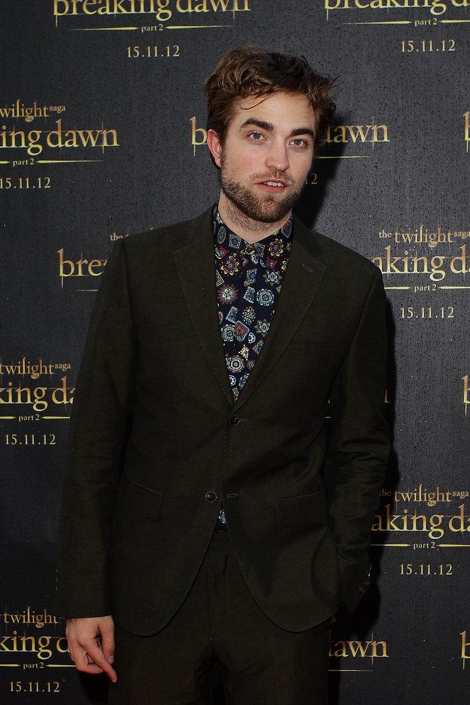 Robert Pattinson was in Sydney to promote Breaking Dawn Part 2.