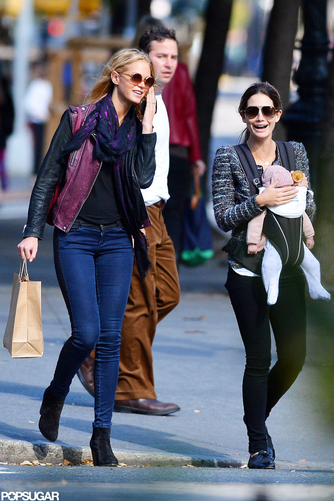 Lily Aldridge and Erin Heatherton Enjoy a Day With Baby Dixie in NYC