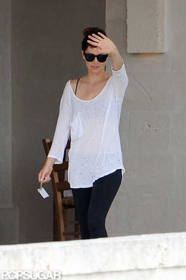 Jessica Biel stepped out in Italy.