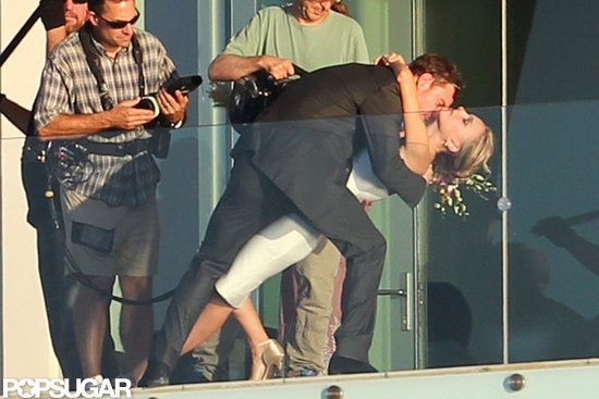 Natalie Portman and Michael Fassbender filmed a scene for their movie in Texas.