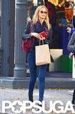 Erin Heatherton went shopping in NYC.