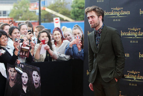 Robert Pattinson was at a fan event for Breaking Dawn Part 2 in Sydney.