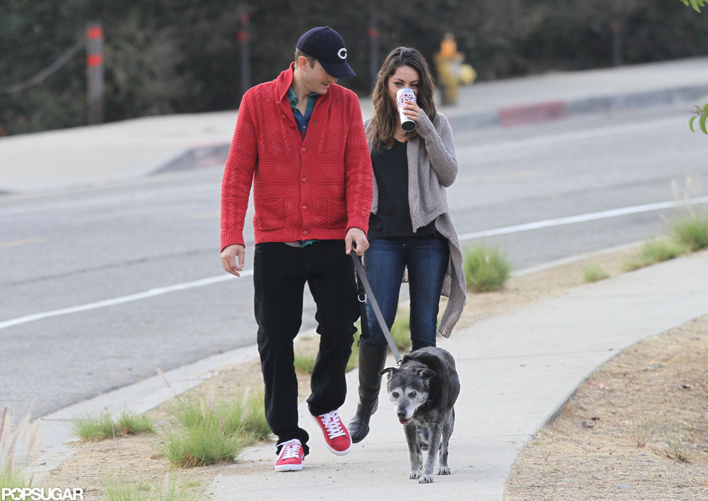 Mila Kunis and boyfriend Ashton Kutcher spent some time in LA.
