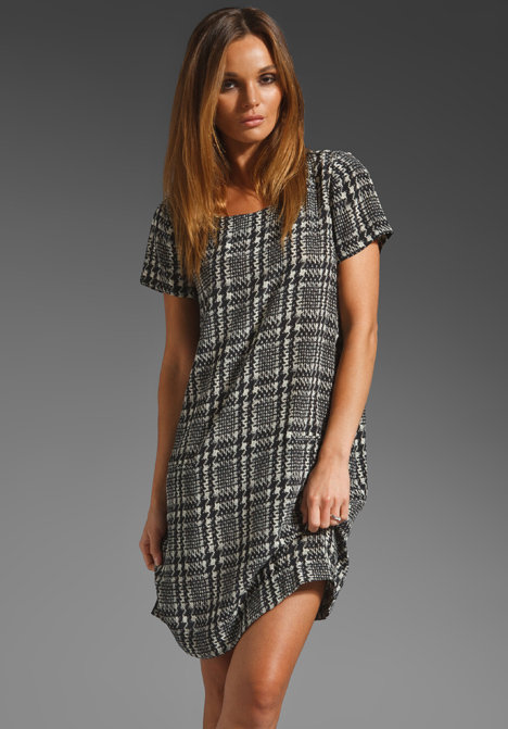This Joie Madaline Plaid Print Dress ($258) would make the ideal work shift with a little black blazer or even a leather jacket thrown over it.