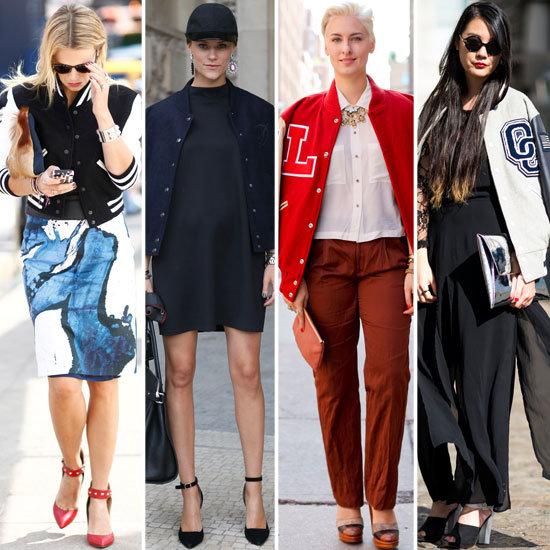 Varsity Jackets Street Style Popsugar Fashion