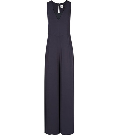 Pump up this navy-blue Reiss Raquel Tailored Jumpsuit ($465) with a pair of metallic heels.