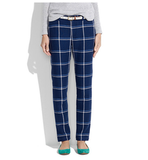We love the thought of giving these cheeky Madewell Plaid trousers  ($150) a lift with pointy-toe pumps and a slouchy pullover knit.
