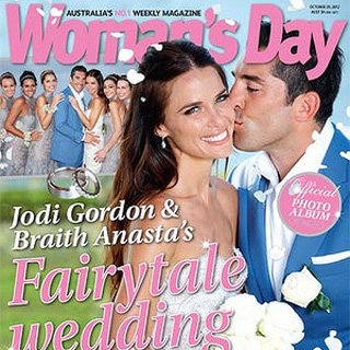 Jodi Gordon and Braith Anasta Wedding Pictures in Woman's Day Magazine