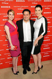 Designer Narciso Rodriguez was flanked by Emma Roberts and Julianna Margulies at his Kohl's collection launch party in NYC.