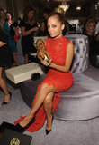 Nicole Richie showed some leg while seated at the event.