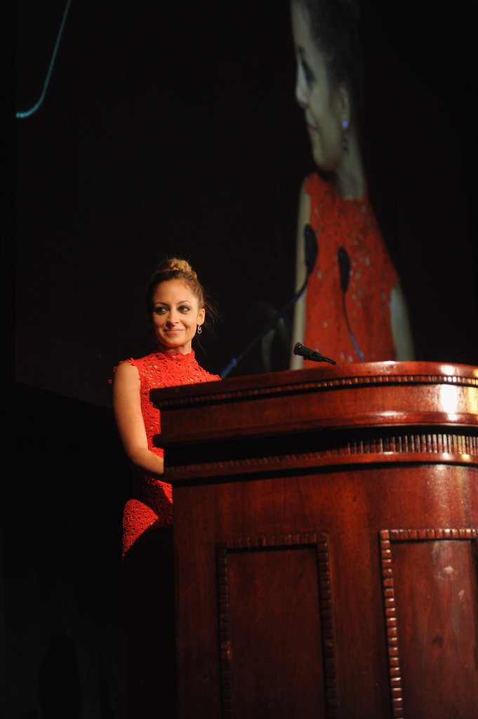 Nicole Richie took to the podium.