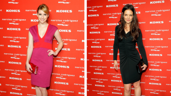 Emma Roberts and Katie Holmes Light Up the Narciso Rodriguez For Kohl's Bash