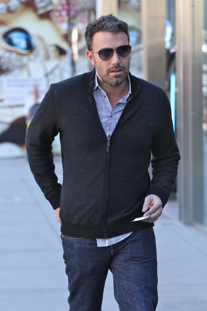 Ben Affleck sported a sweater.