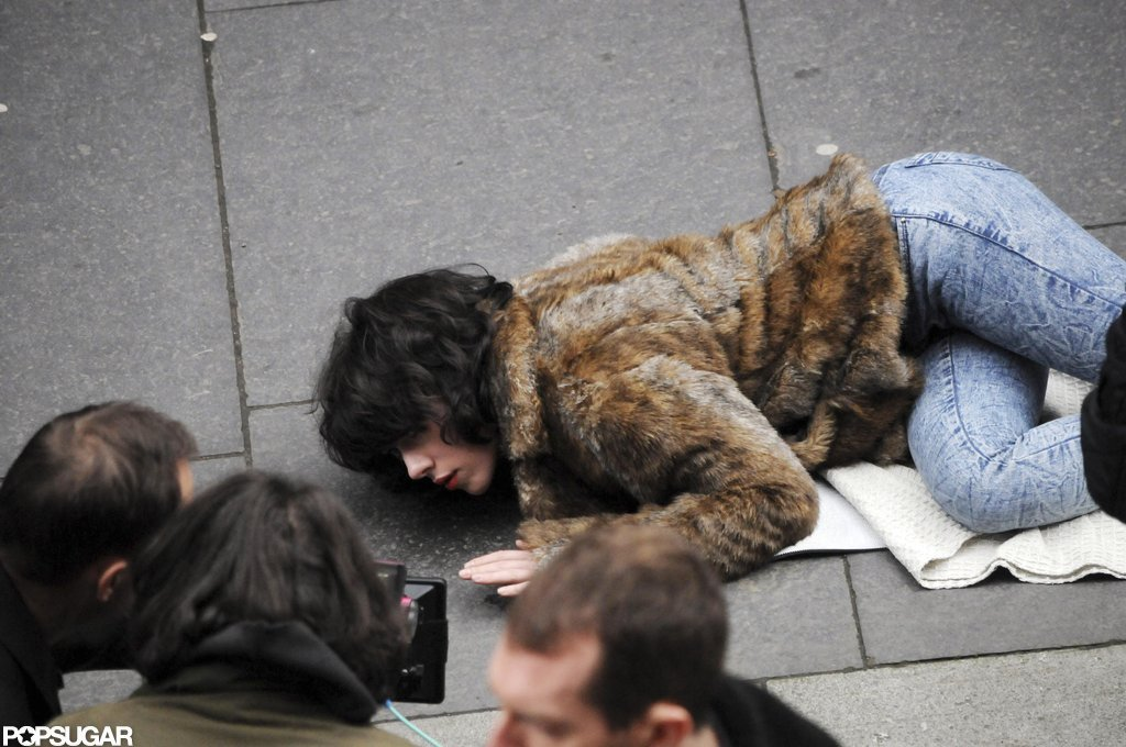 Scarlett Johansson filmed a falling scene for Under the Skin in Scotland.