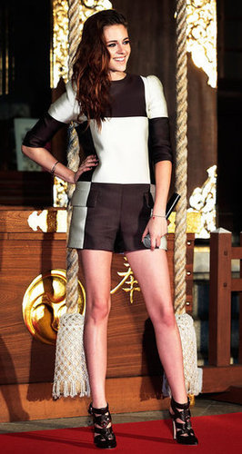 Kristen Stewart posed for photos in Japan.