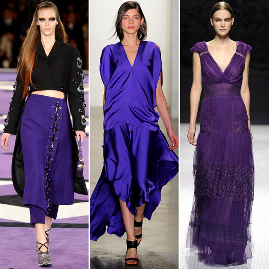 Purple Runway Trend Fall 2012