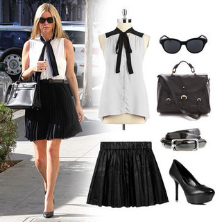 Nicky Hilton's Black and White Outfit | October 2012