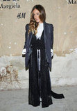 Sarah Jessica Parker opted for easy elegance in an oversize blazer and a sparkly maxi.