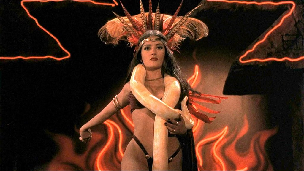Salma Hayek as Santánico Pandemónium in From Dusk Till Dawn, 1996
