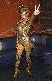Heidi Klum dressed as an alien for her 2004 Halloween bash in New York.