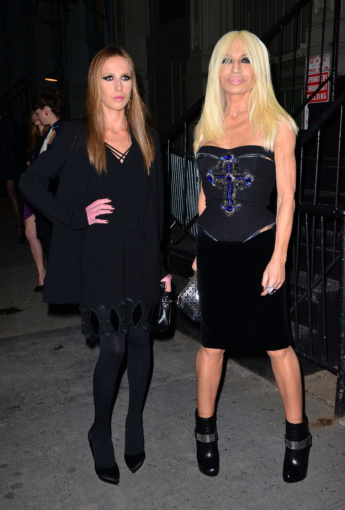 Allegra Versace and Donatella Versace