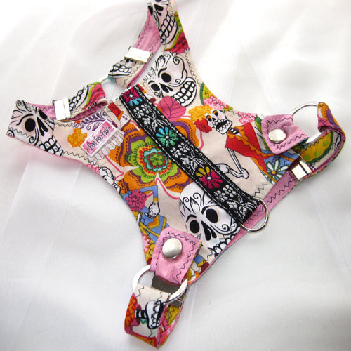 Day of the Dead Dog Harness