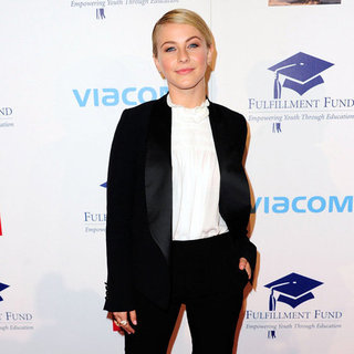 Julianne Hough Wearing a Tuxedo Suit