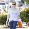 Emma Roberts Wearing Polka Dot Jeans