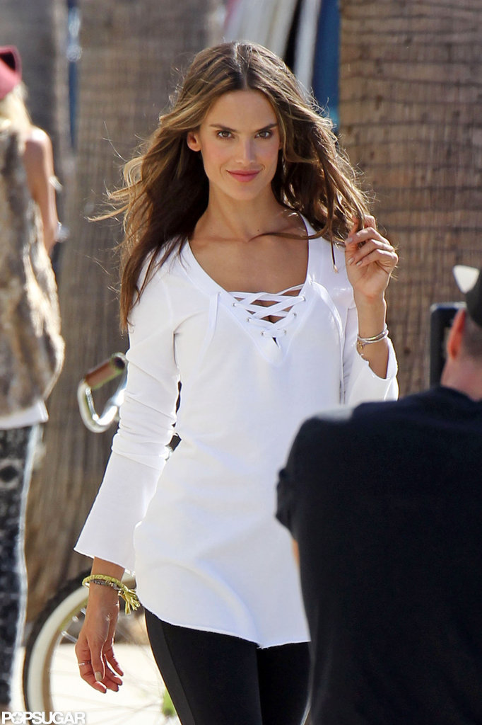 Alessandra Ambrosio posed for the camera.