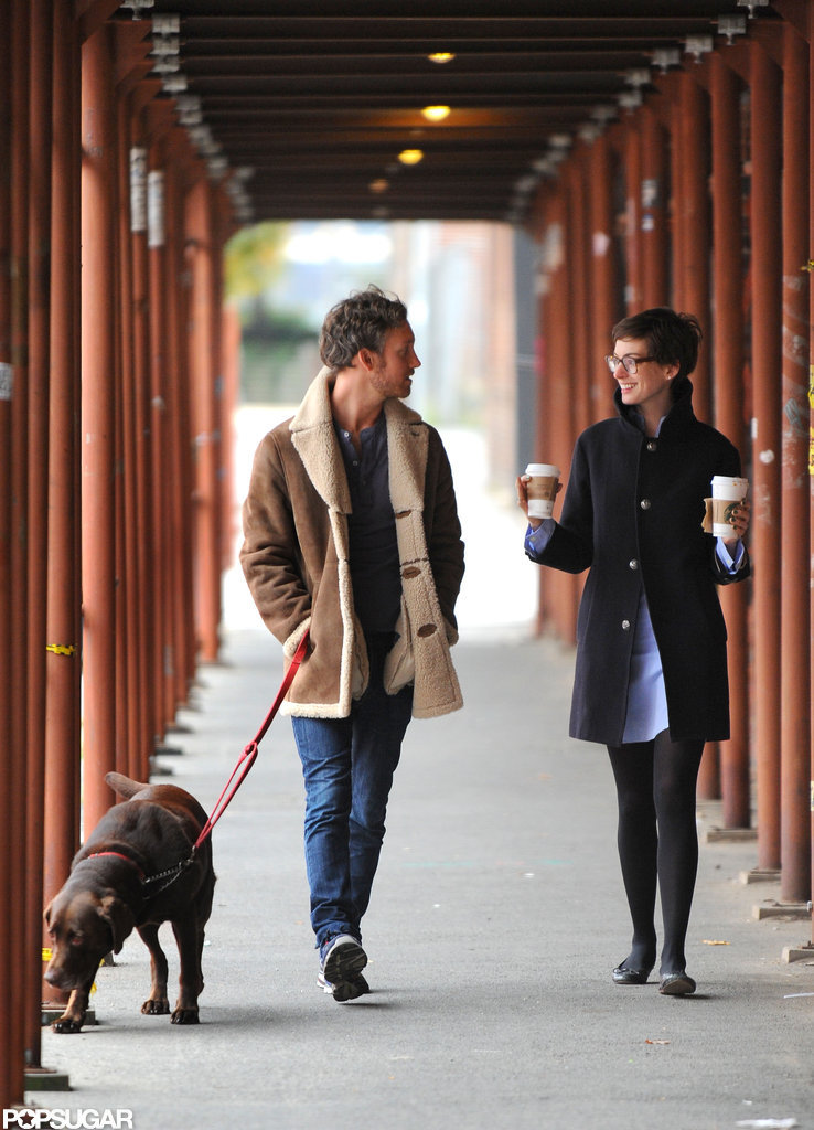 Anne Hathaway and Adam Shulman were in Brooklyn.