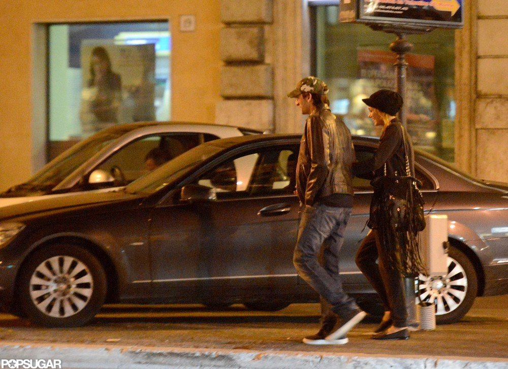 Adrien Brody held hands with Lara Lieto in Rome.
