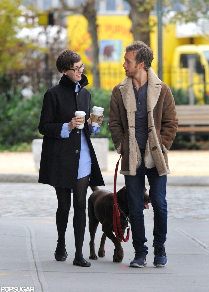 Anne Hathaway and Adam Shulman were in Brooklyn together.